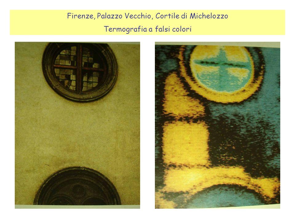 Firenze, Palazzo Vecchio, Cortile di Michelozzo Termografia a falsi colori