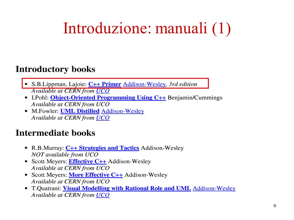 6 Introduzione: manuali (1)