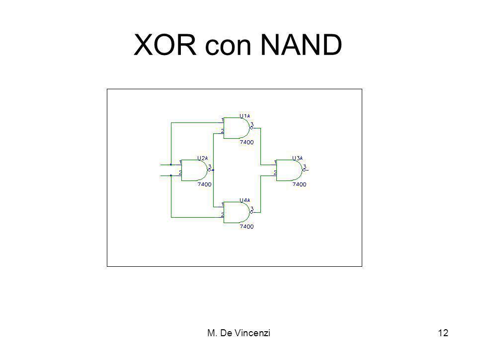 M. De Vincenzi12 XOR con NAND