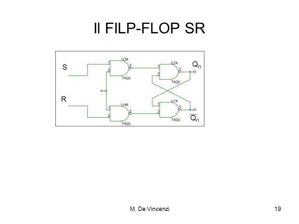 M. De Vincenzi19 Il FILP-FLOP SR S R QnQn QnQn