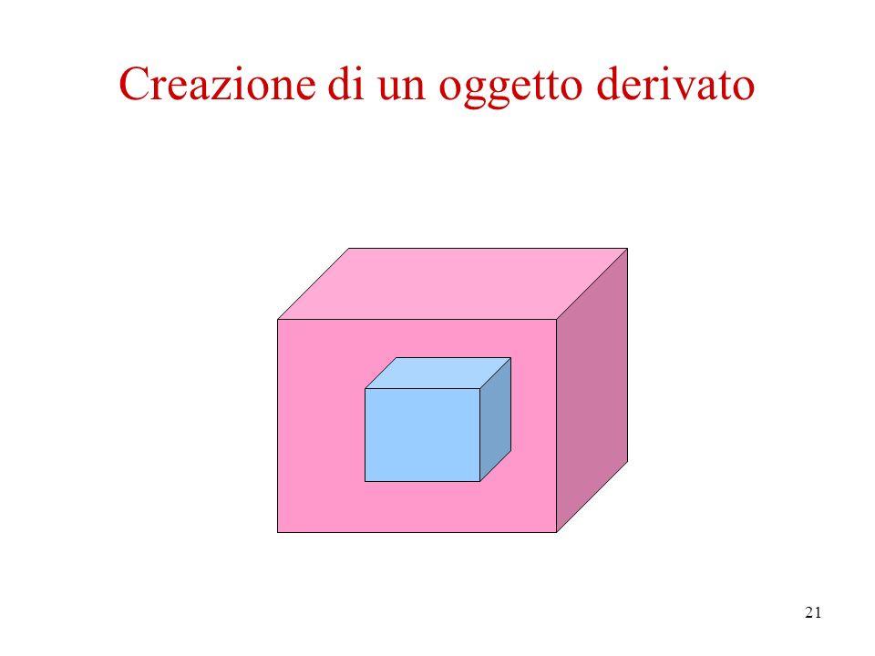 21 Creazione di un oggetto derivato