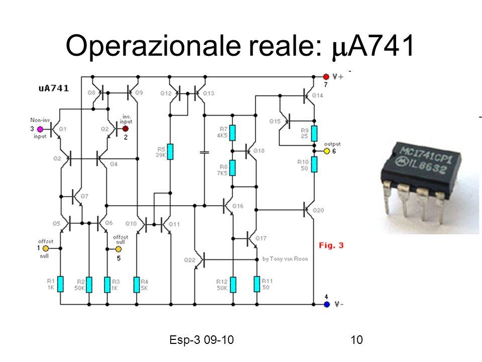 Esp-3 09-1010 Operazionale reale: A741