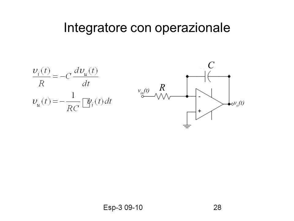 Esp-3 09-1028 Integratore con operazionale R C