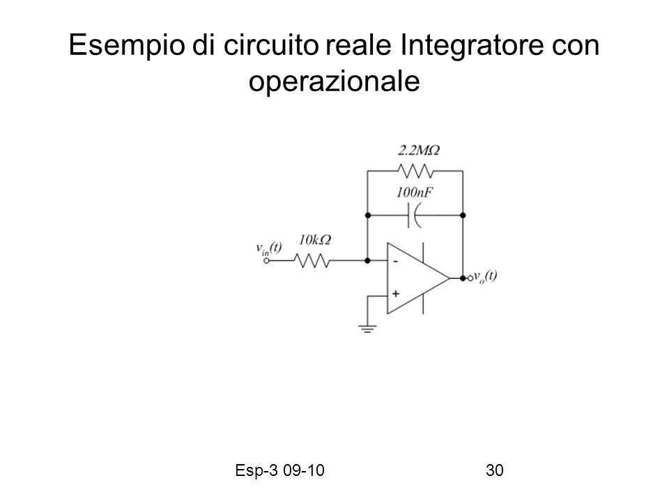 Esp-3 09-1030 Esempio di circuito reale Integratore con operazionale