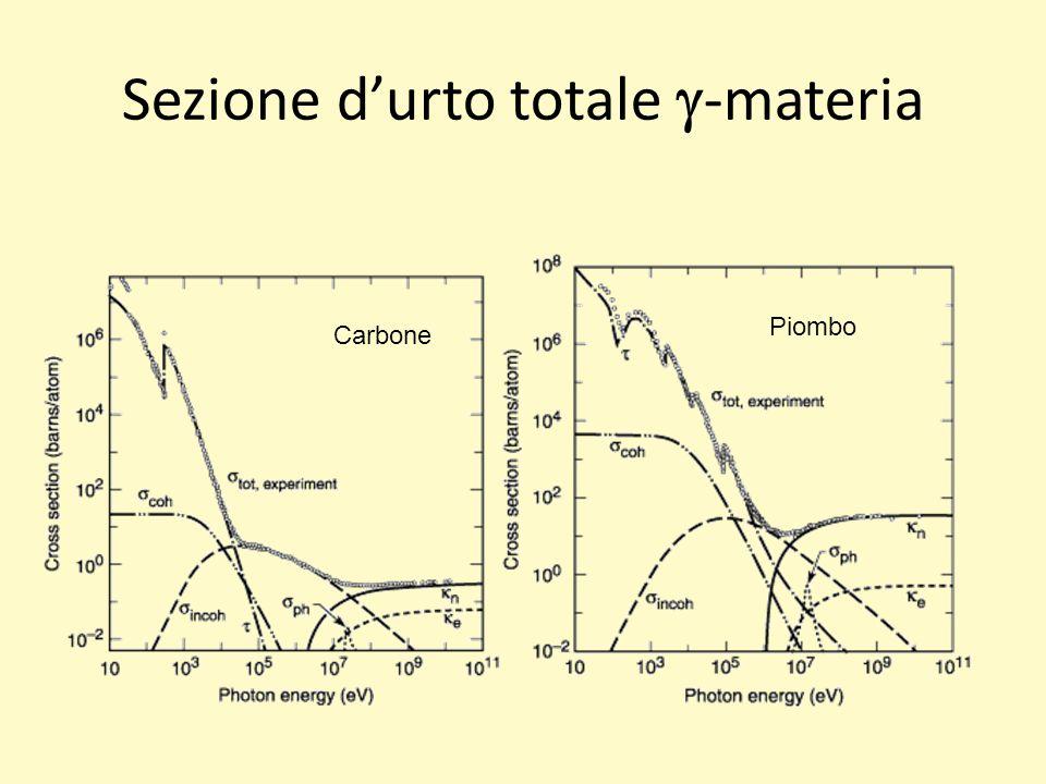 Sezione durto totale -materia Carbone Piombo
