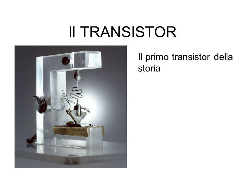 Il TRANSISTOR Il primo transistor della storia
