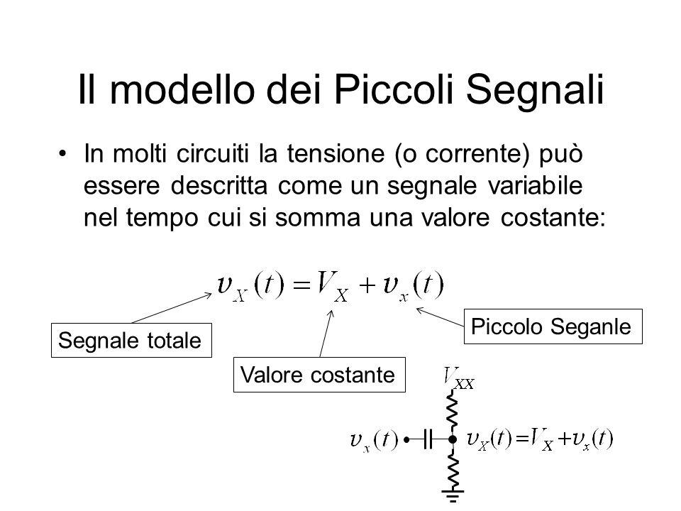 Il modello dei Piccoli Segnali In molti circuiti la tensione (o corrente) può essere descritta come un segnale variabile nel tempo cui si somma una va