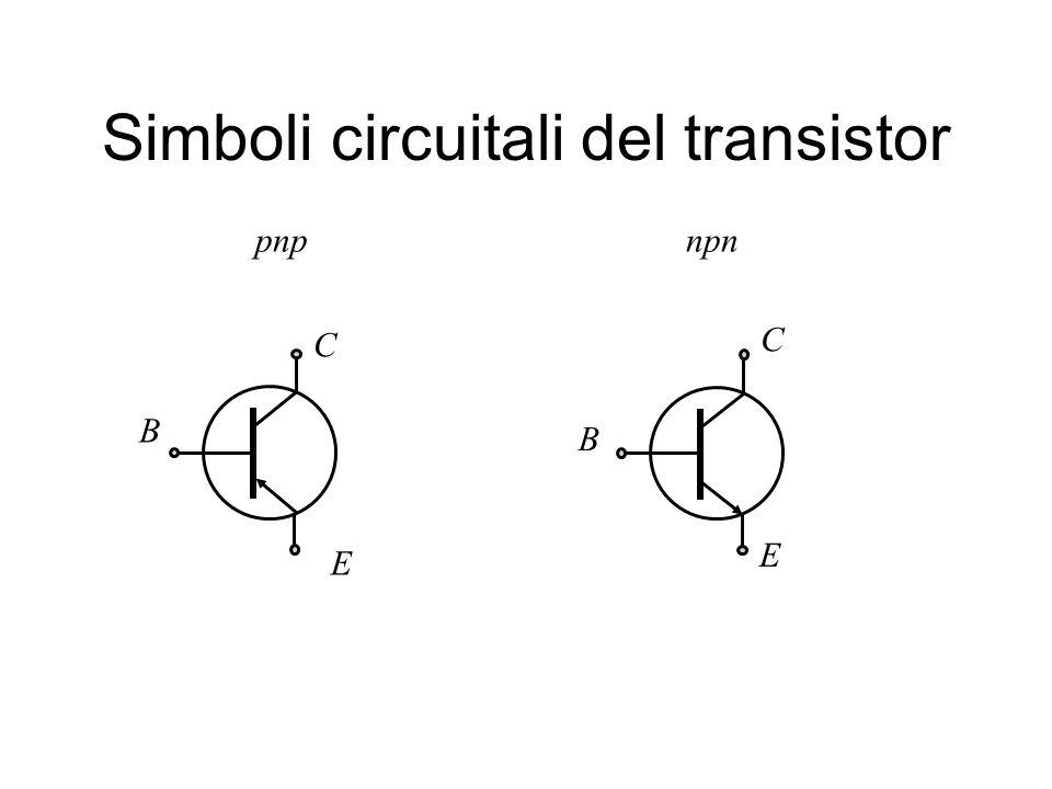 Simboli circuitali del transistor npnpnp C E B B E C