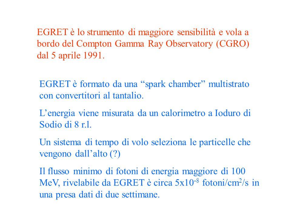 EGRET è lo strumento di maggiore sensibilità e vola a bordo del Compton Gamma Ray Observatory (CGRO) dal 5 aprile 1991.