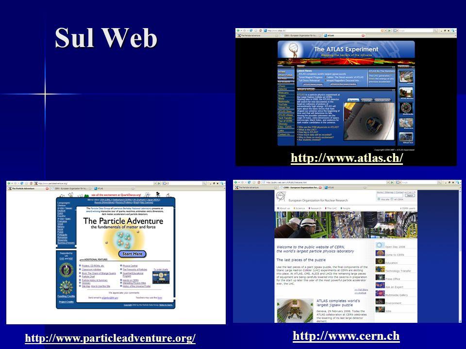Sul Web http://www.particleadventure.org/ http://www.cern.ch http://www.atlas.ch/