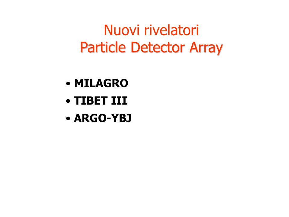Nuovi rivelatori Particle Detector Array MILAGRO TIBET III ARGO-YBJ