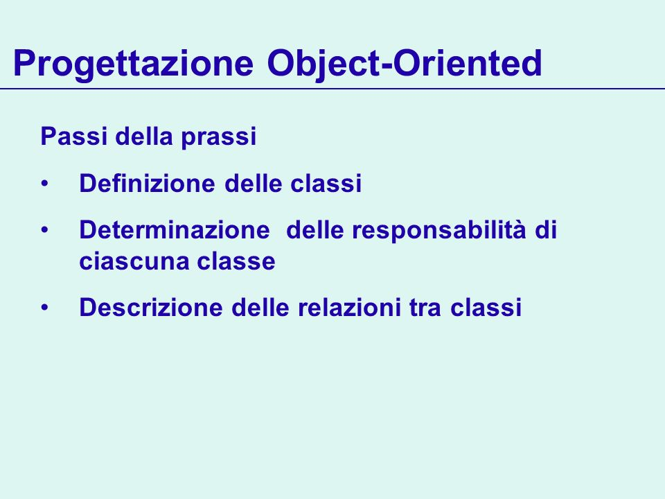Refactoring via aggregazione e delegation Refactoring di più classi class Helper { void commonSteps() { step1(); step2(); step3(); } } class ComputationA { Helper help; void method1(...) {...