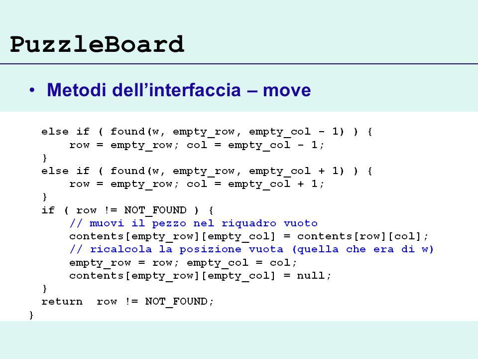 PuzzleBoard Metodi dellinterfaccia – move