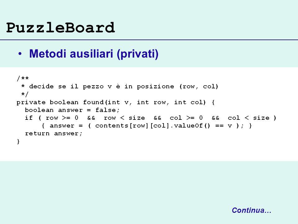 PuzzleBoard Metodi ausiliari (privati) Continua…