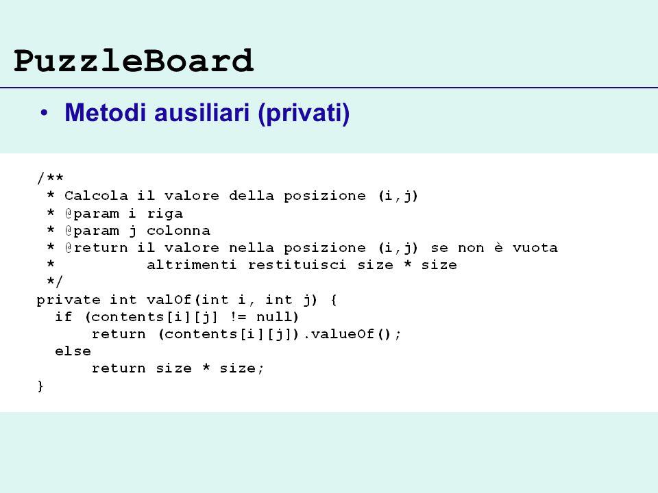 PuzzleBoard Metodi ausiliari (privati)