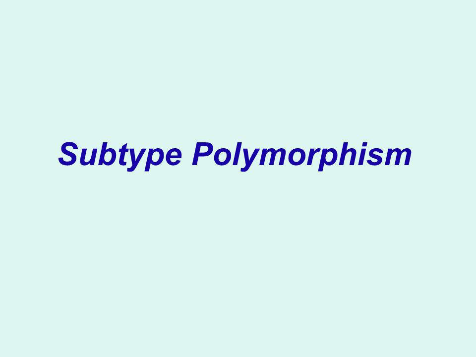 Subtype Polymorphism