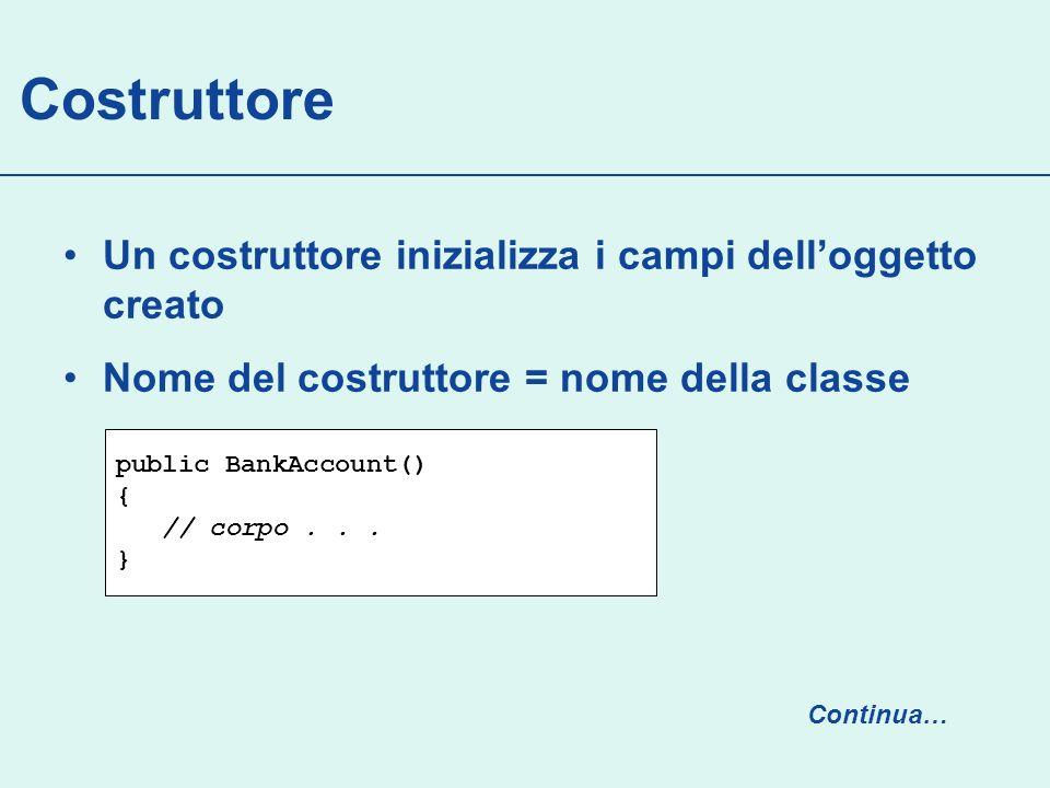 Banco public class Banco { private Random generatore; private TreeSet numeriUsciti; private int MAXNUM = 90; public Banco() { generatore = new Random(System.currentTimeMillis()/101); numeriUsciti = new TreeSet (); } // … continua