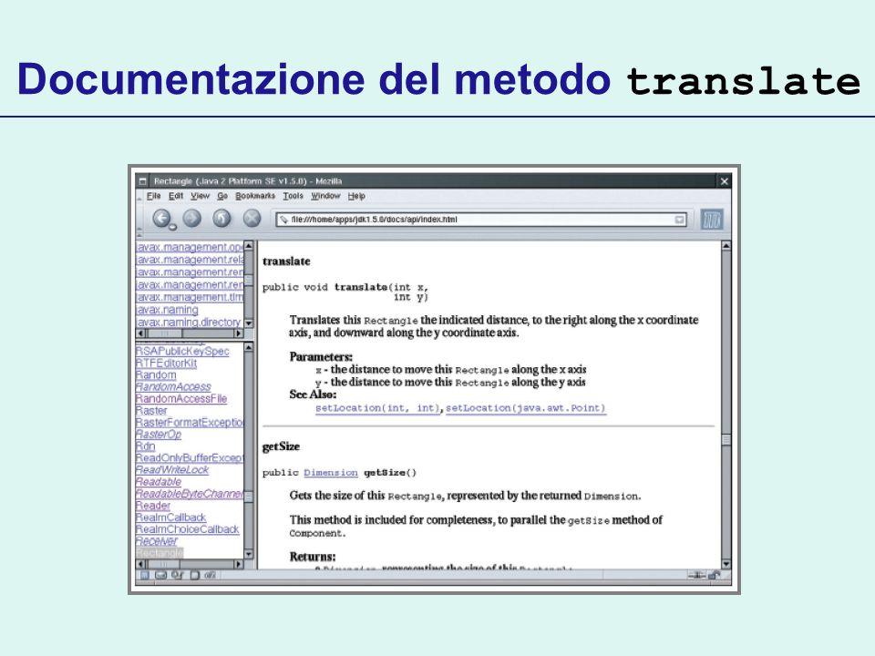 Documentazione del metodo translate