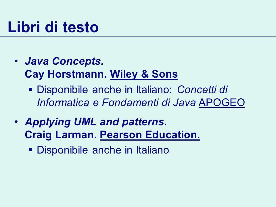 Libri di testo Java Concepts. Cay Horstmann.