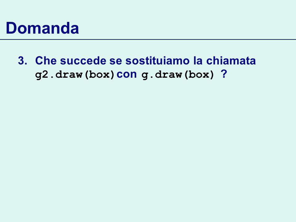 Domanda 3.Che succede se sostituiamo la chiamata g2.draw(box) con g.draw(box)