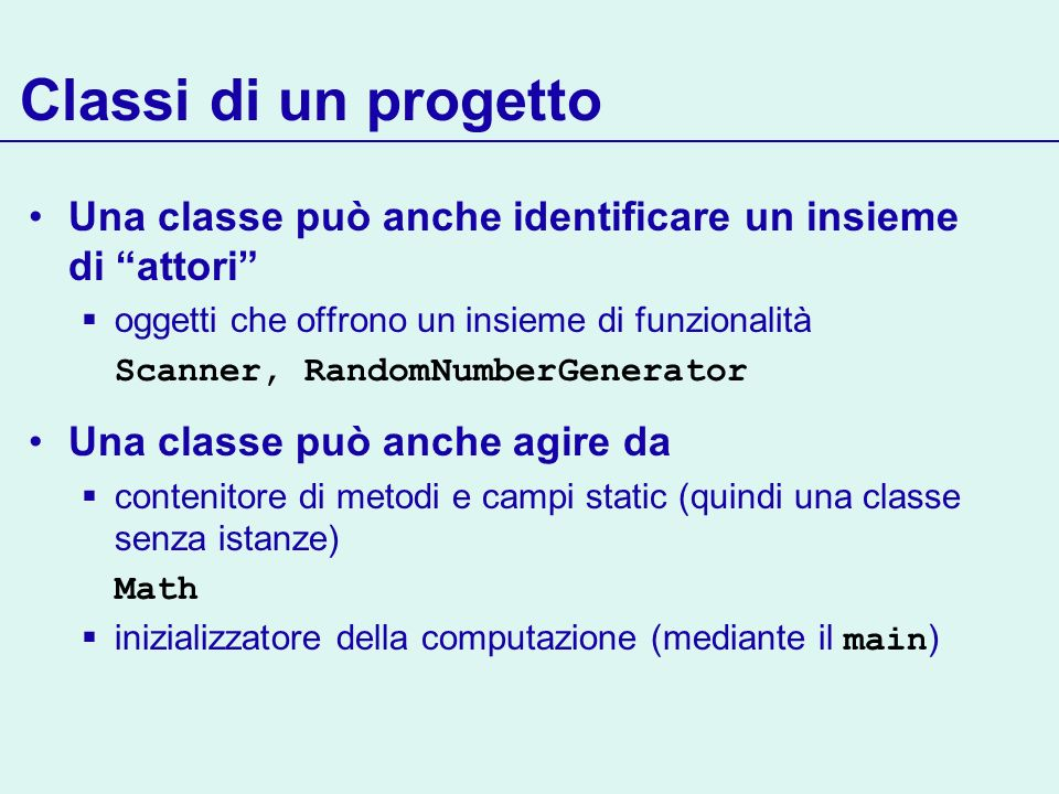 Gestione di un timer Per associare un particolare listener al timer è necessario registrare il listener sul timer Ora possiamo far partire il timer MyListener listener = new MyListener(); Timer t = new Timer(interval, listener); t.start(); // Esegue in un thread separato tra due tick