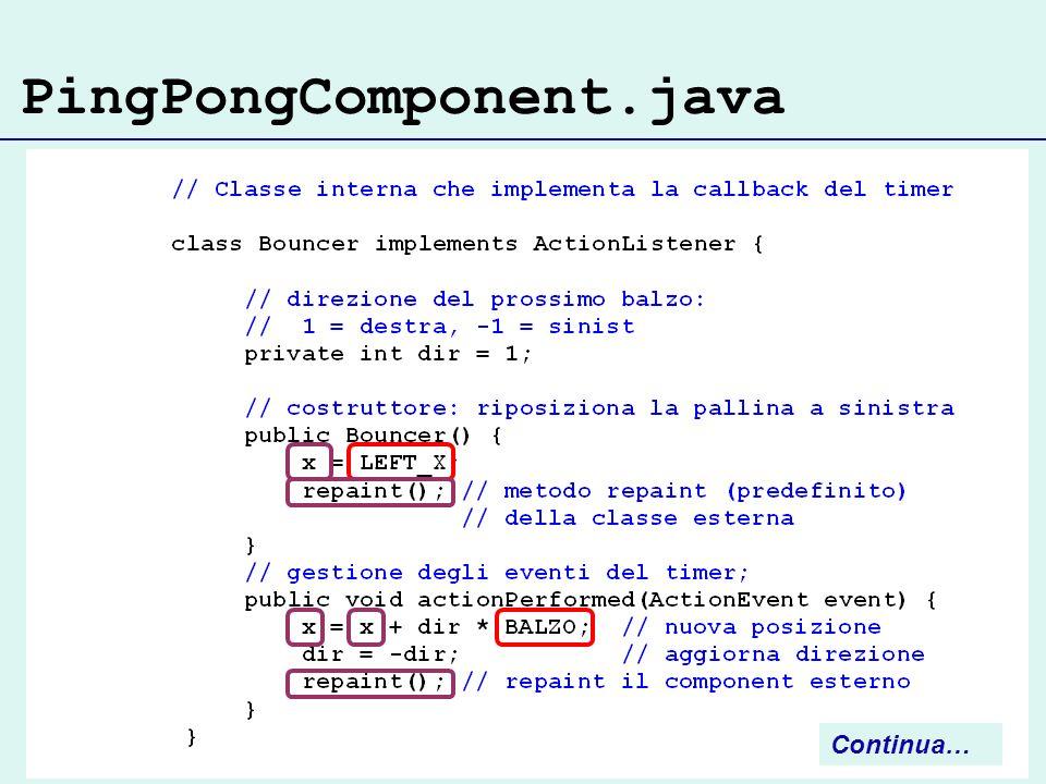 PingPongComponent.java Continua…