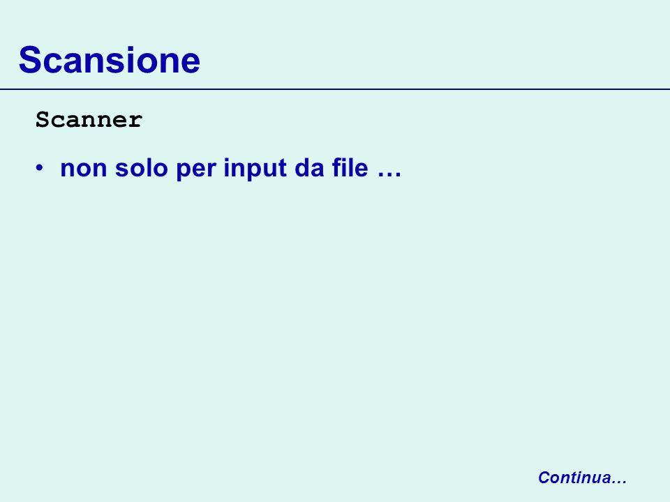 RandomAccessFile f.getFilePointer() restituisce la posizione corrente del file pointer f.length() restituisce la lunghezza del file // tipo long perchè un file può avere grandi dimensioni long n = f.getFilePointer(); fileLength = Continua…