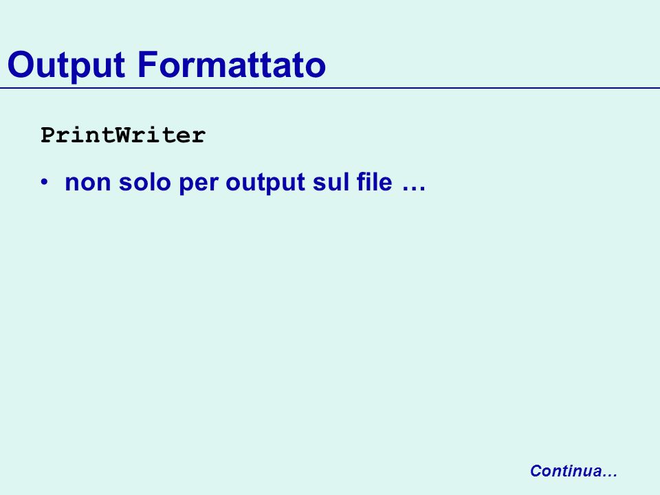 Clear/Cut/Copy/Paste class ClearMenuItem extends EditorMenuItem { public ClearMenuItem(String label, EditBuffer buff) { super(label, buff); } public void actionPerformed(ActionEvent e) { getBuffer().clear(); } } class CutMenuItem extends EditorMenuItem { public CutMenuItem(String label, EditBuffer buff) { super(label, buff); } public void actionPerformed(ActionEvent e) { getBuffer().cut(); } } Continua…