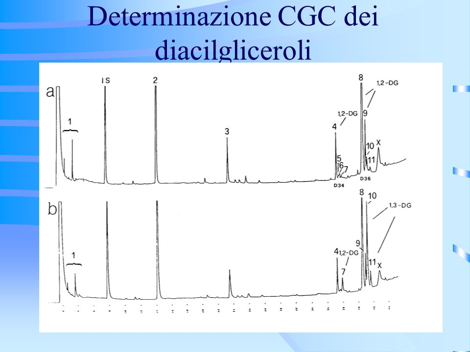 Determinazione CGC dei diacilgliceroli