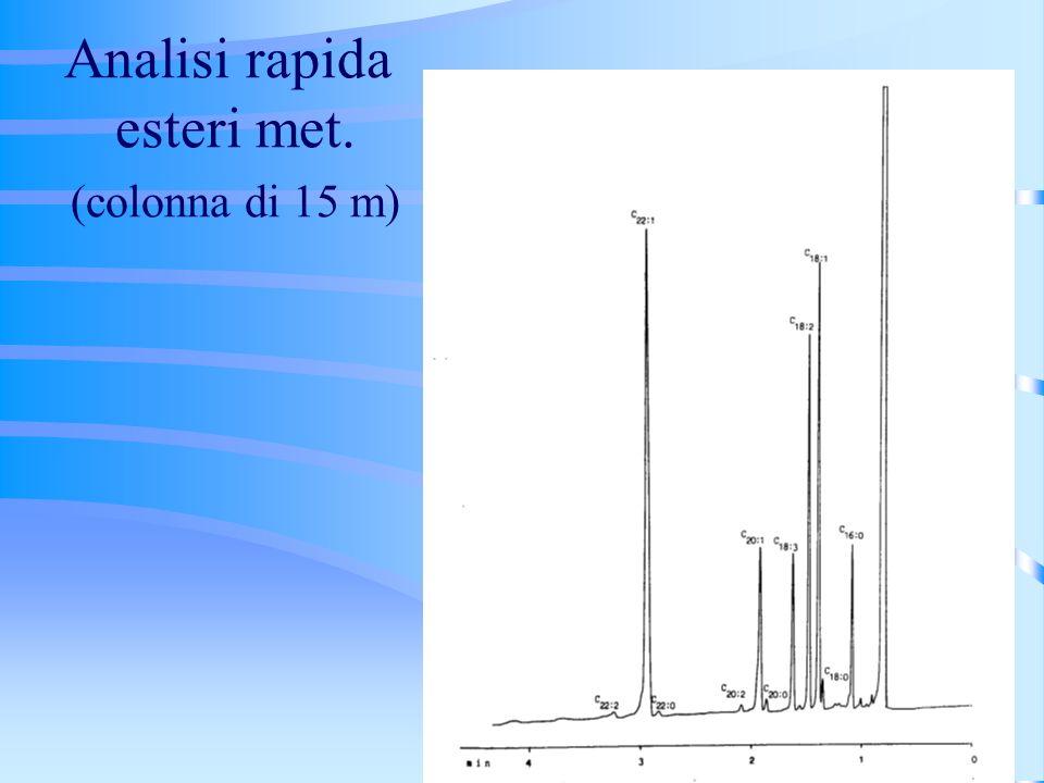 Analisi rapida esteri met. (colonna di 15 m)