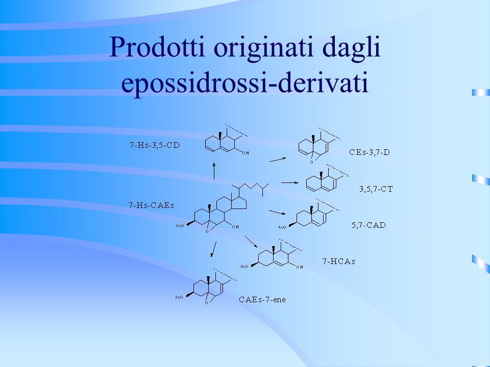 Prodotti originati dagli epossidrossi-derivati