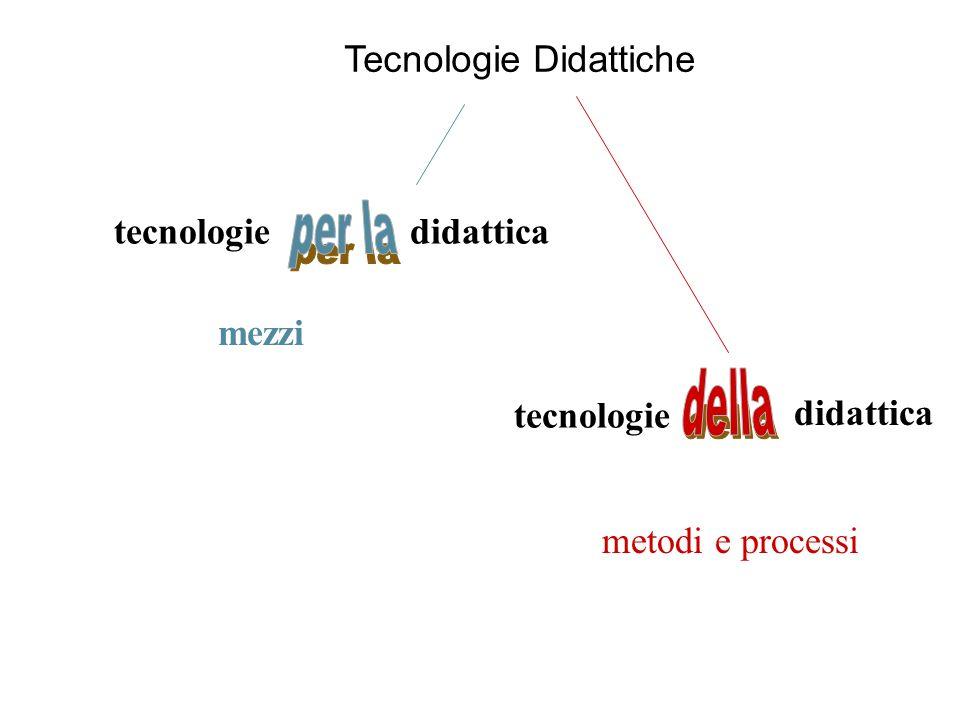 Tecnologie Didattiche mezzi metodi e processi tecnologie didattica tecnologie didattica