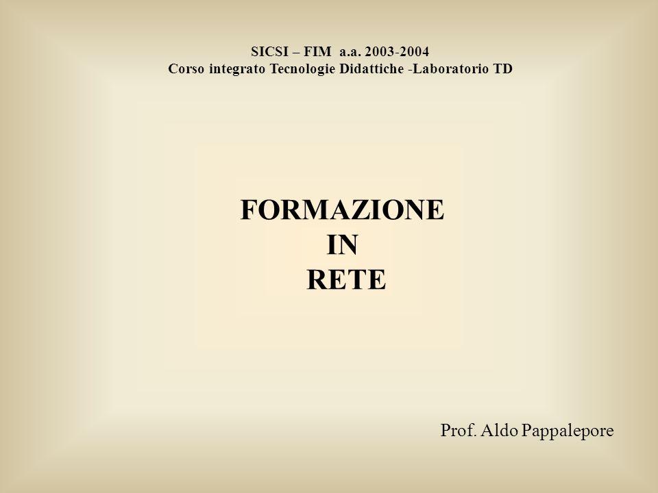 FORMAZIONE IN RETE SICSI – FIM a.a.