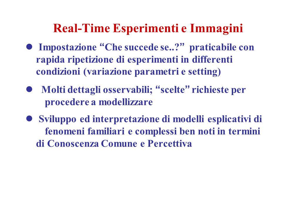 Real-Time Esperimenti e Immagini Impostazione Che succede se...