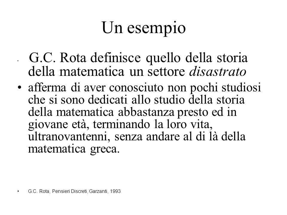Un esempio G.C.
