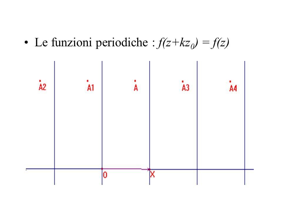 Le funzioni periodiche : f(z+kz 0 ) = f(z)