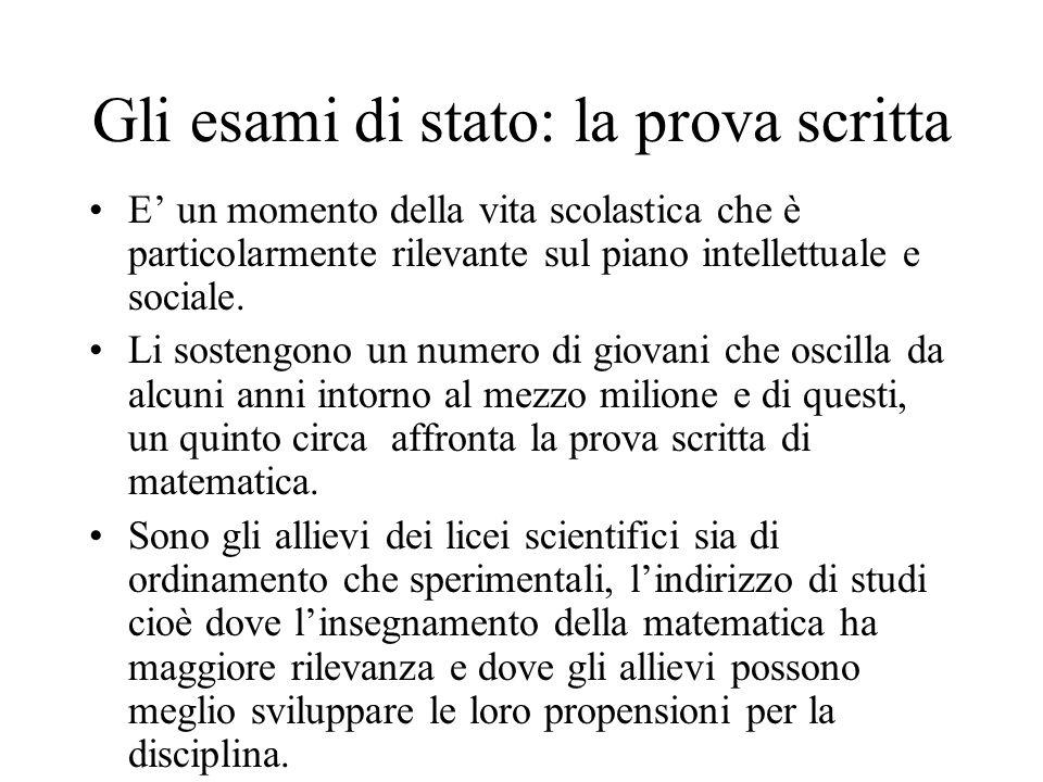 Gli esami di stato: la prova scritta E un momento della vita scolastica che è particolarmente rilevante sul piano intellettuale e sociale.