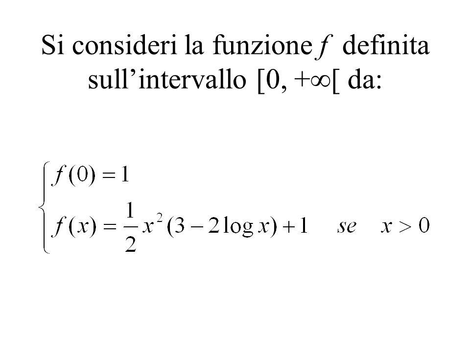 Si consideri la funzione f definita sullintervallo [0, + [ da: