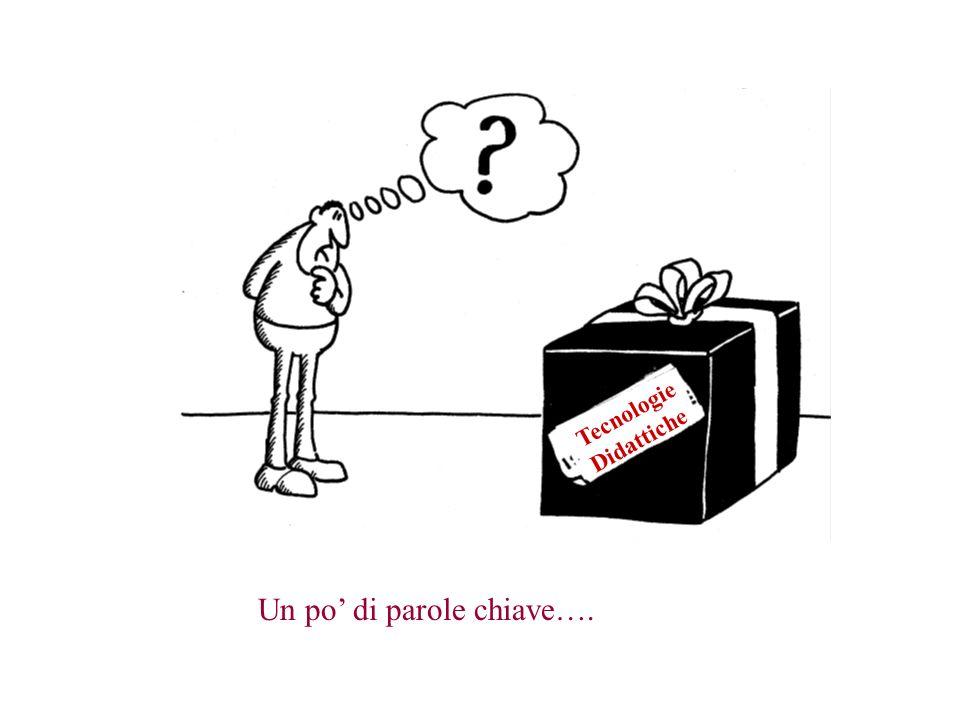 Tecnologie Didattiche Un po di parole chiave….