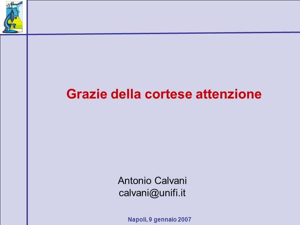 Napoli, 9 gennaio 2007 Grazie della cortese attenzione Antonio Calvani calvani@unifi.it