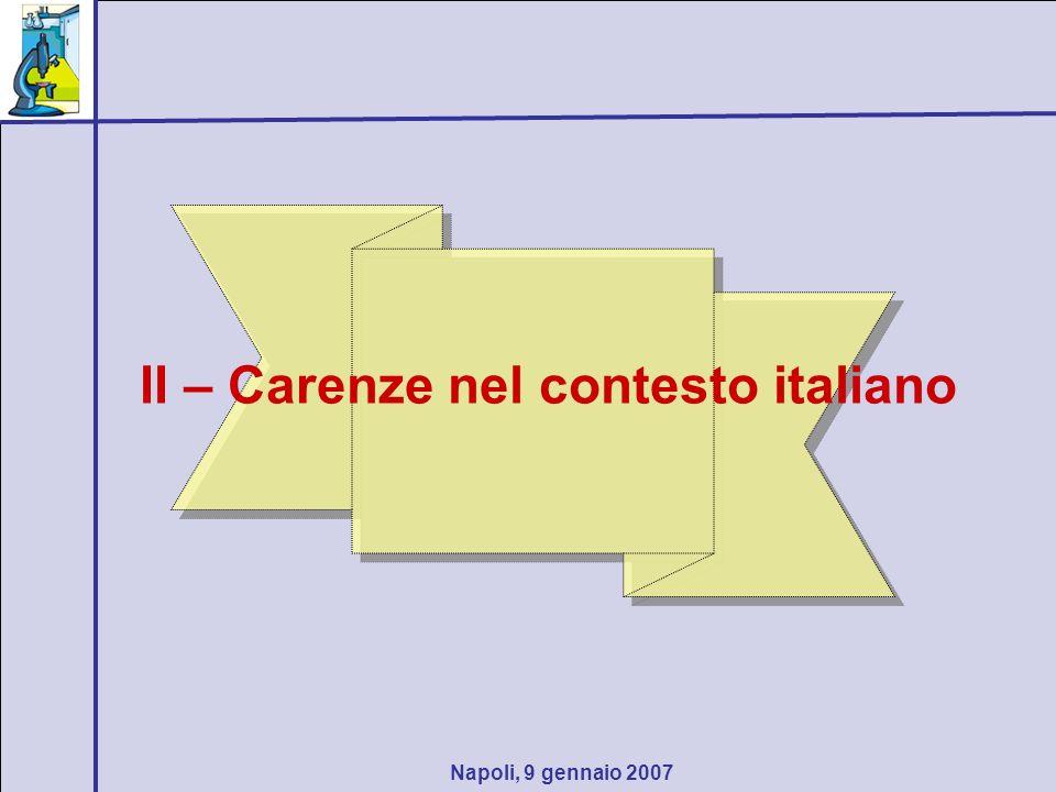 Napoli, 9 gennaio 2007 III - Ricerca didattica problemi aperti o chiusi?