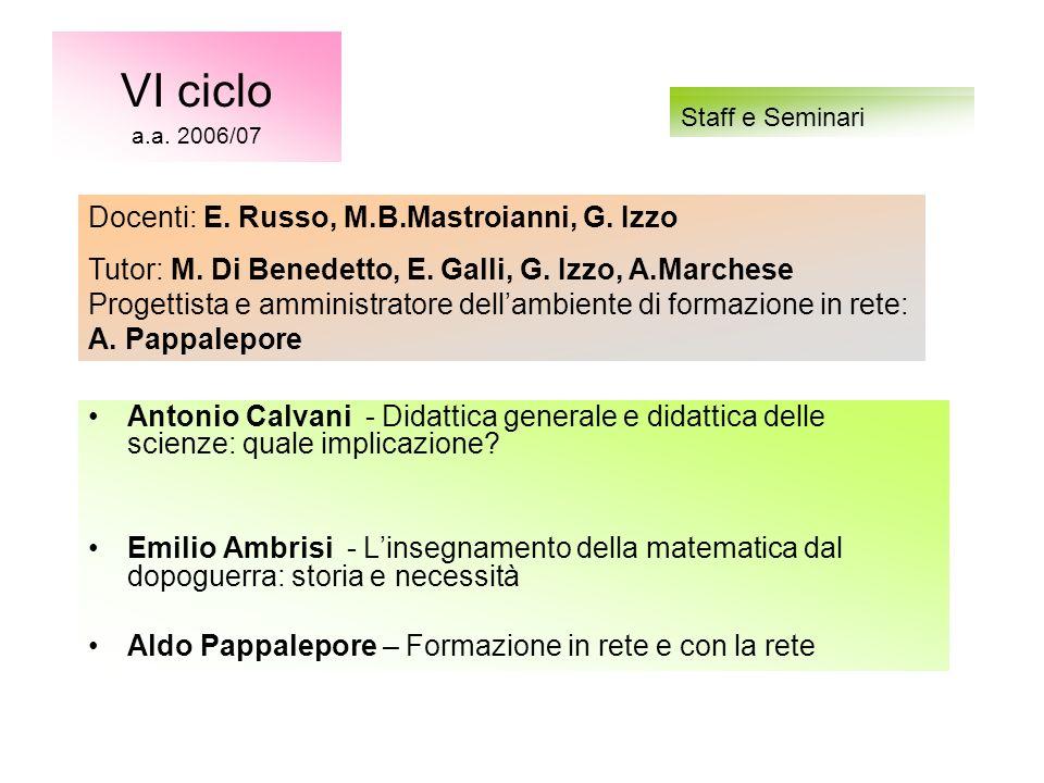 Antonio Calvani - Didattica generale e didattica delle scienze: quale implicazione.