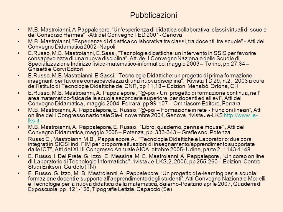 Pubblicazioni M.B.