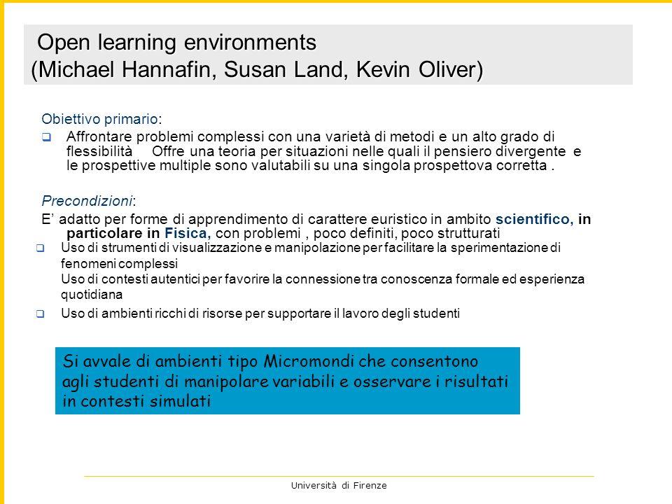 Università di Firenze 2 Obiettivo primario: Affrontare problemi complessi con una varietà di metodi e un alto grado di flessibilità Offre una teoria p