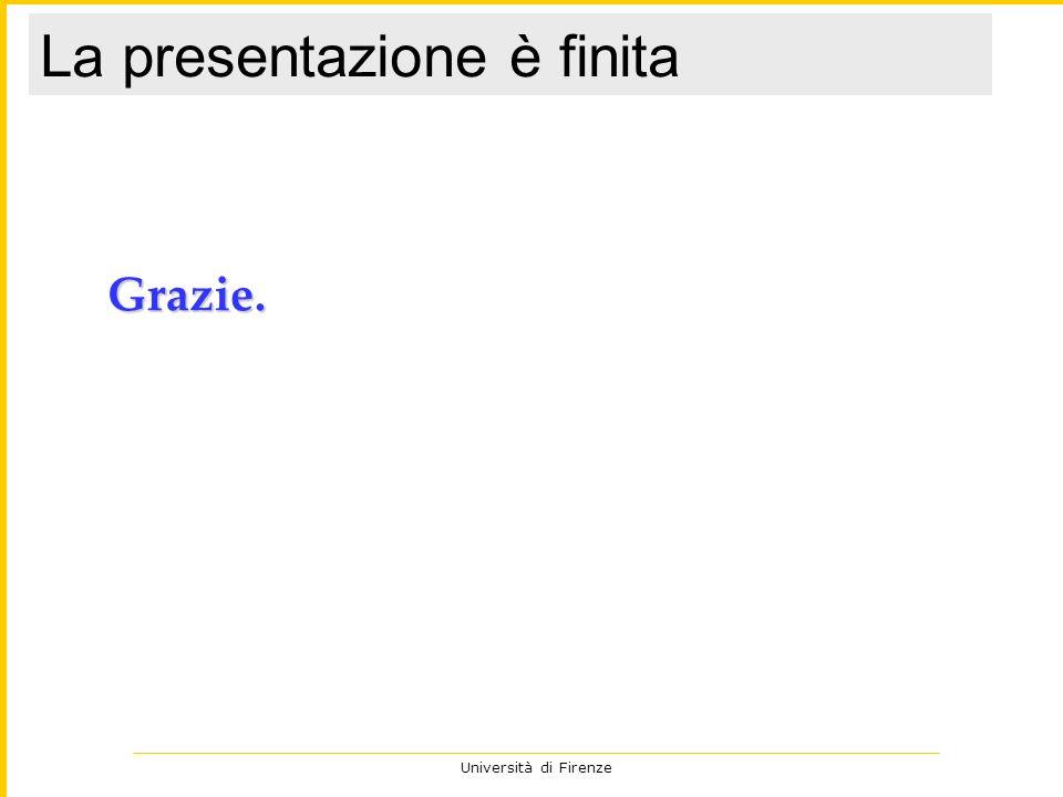 Università di Firenze Grazie. La presentazione è finita