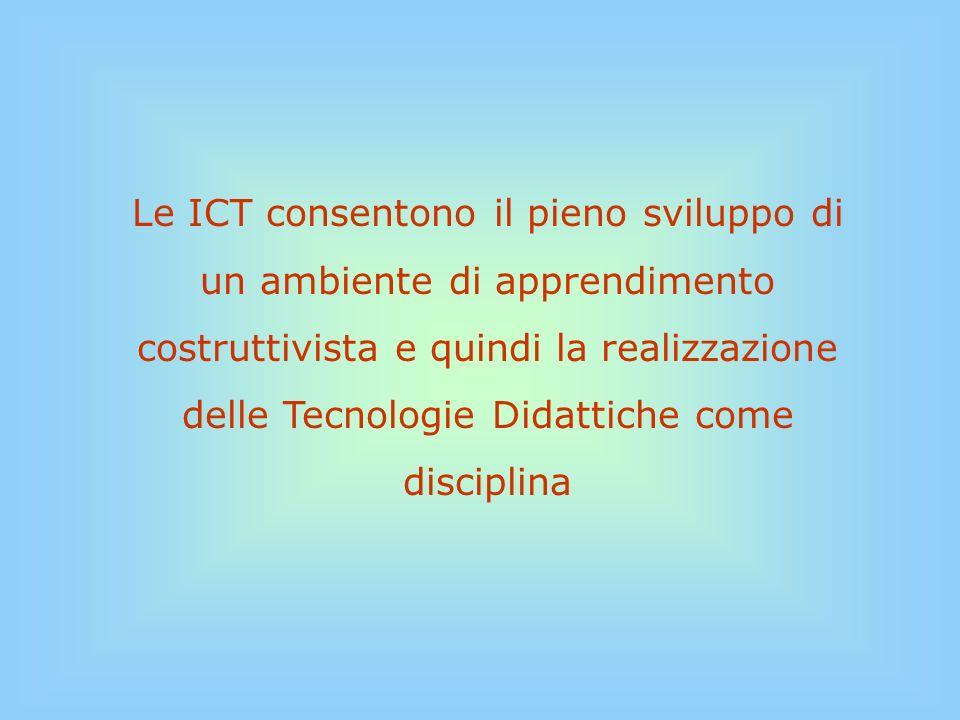 Teorie pedagogicheTecnologie ComportamentismoCognitivismoCostruttivismoAV Computer: sw di produzione multimediale e ipertestuale Rete - Internet Computer