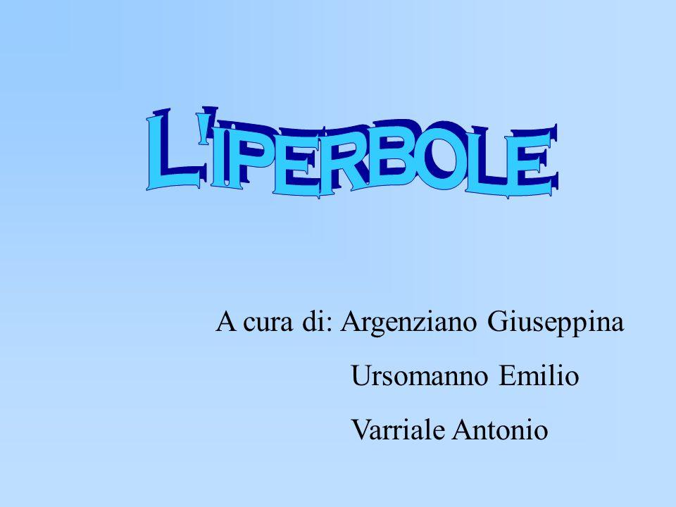 Introduzione Lesistenza delliperbole come curvacurva Liperbole come sezione conicasezione conica
