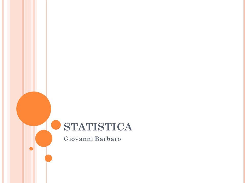 STATISTICA Giovanni Barbaro