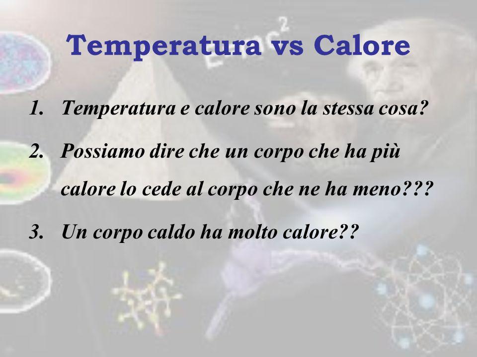 La temperatura è la proprietà che caratterizza lo stato termico di due sistemi in relazione alla direzione del flusso di calore che si instaurerebbe f