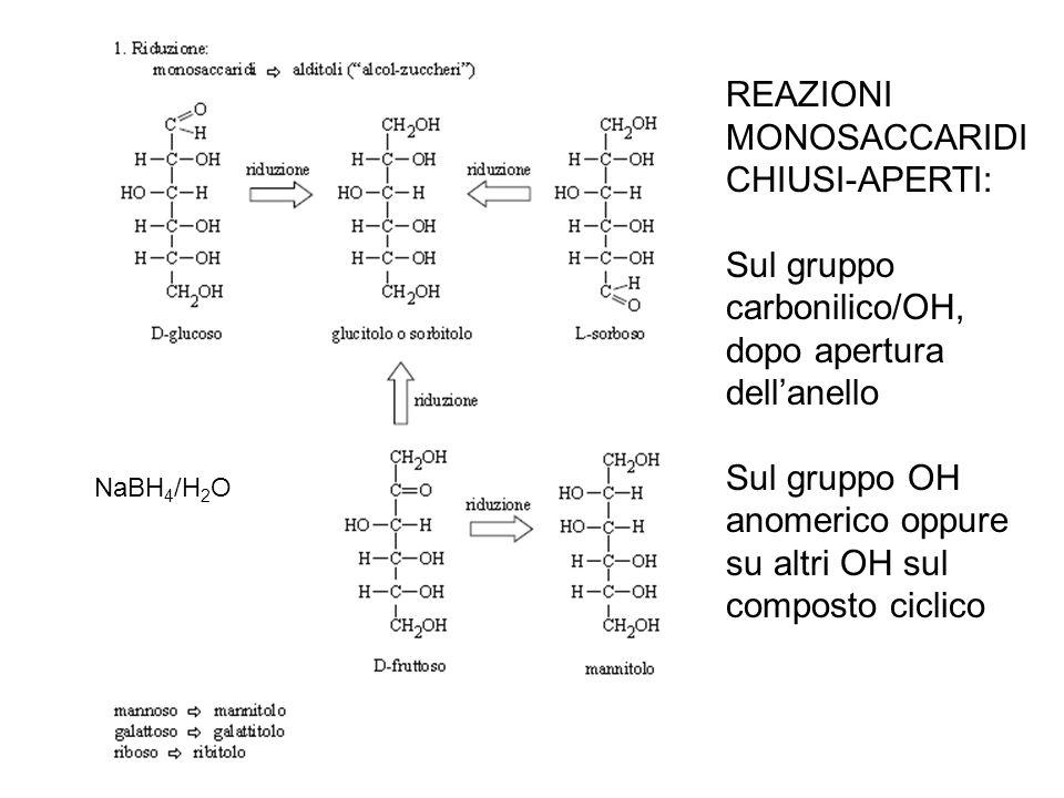 AGENTI OSSIDANTI: Br 2 /H 2 O acidi aldonici HNO 3 acidi aldarici Solo aldosi